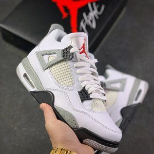 Nike Air Jordan 4 White Cement White Grey